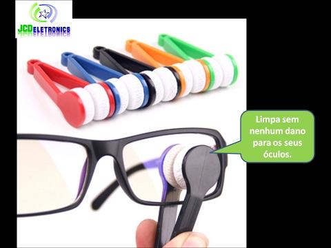 dcdc1d0773a55 Limpador De Lentes Oculos Sol E Grau Não Arranha Microfibra JCDeletronics