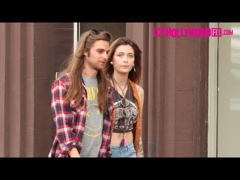 Paris Jackson & Her Boyfriend Gabriel Glenn Hold Hands While Out Shopping Together On Melrose Ave.