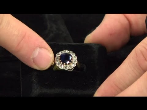 Multiple Stone Engagement Jewelry With Antique Settings : Antique Watches & Jewelry