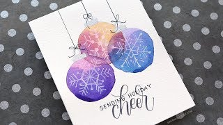 Holiday Card Series 2017 - Day 9 - Easy DIY Card with Minimal Supplies