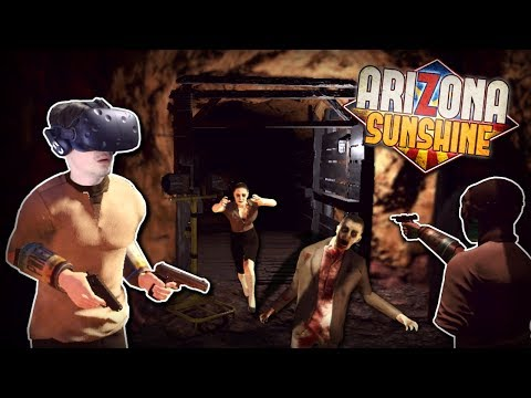 ZOMBIE FILLED ABANDONED MINE! - Arizona Sunshine Gameplay - VR Zombie Survival Game!