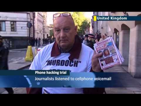 Former editors on trial for phone hacking