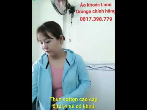 Áo Khoác Lime Orange 8 Thun Cotton Cao Cấp 6 Túi