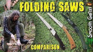 Best Folding Saw? – Comparison: Opinel No 18 vs Bahco Laplander vs Silky Gomboy 210 | Bushcraft Saws