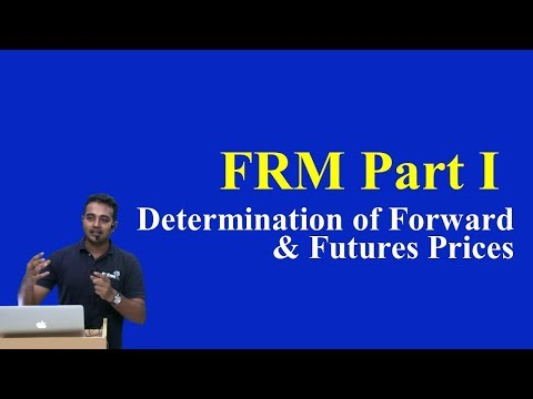FRM: Determination of Forward & Futures Prices Part I (of 2)