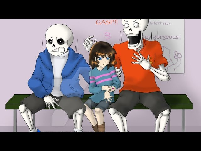Frisk and Sans visit to a doctor【Undertale Animation】Undertale Comic dubs Compilation