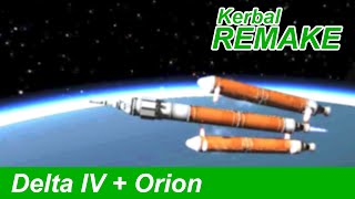 Delta IV Heavy Launch in KSP | Orion Spacecraft (EFT-1)