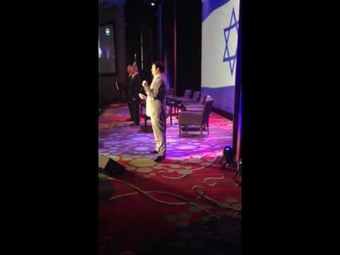 Hatikva performed by David Serero at the Jerusalem Post Conference