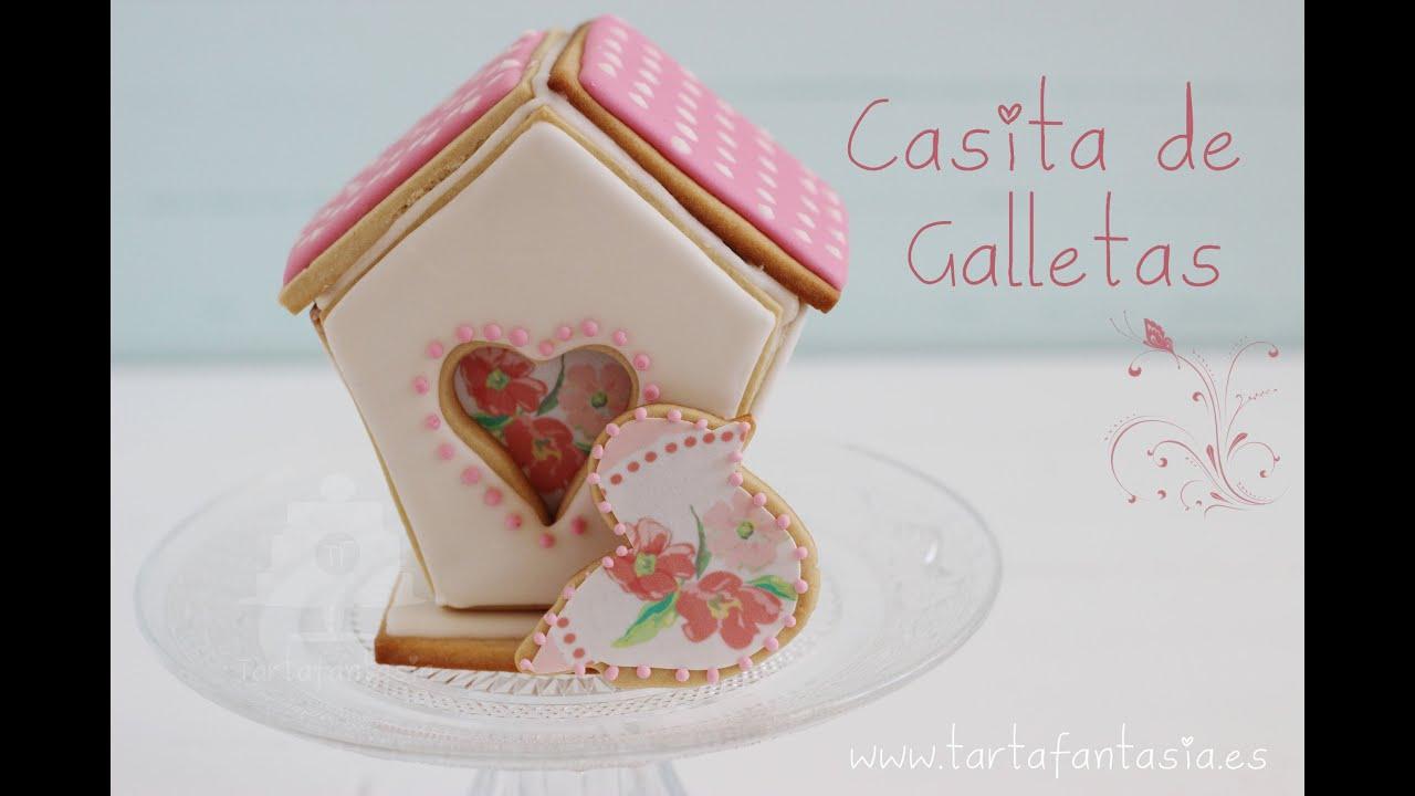 Casita de galletas horneado 3 parte tarta con casita de for Casita de plastico para jardin