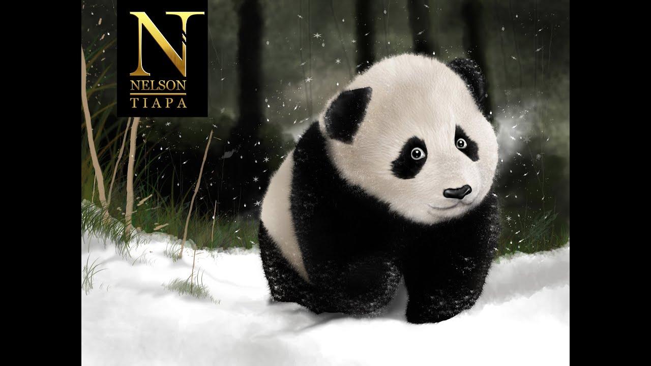 Cmo dibujar un oso panda 2da Parte  Tutorial  YouTube