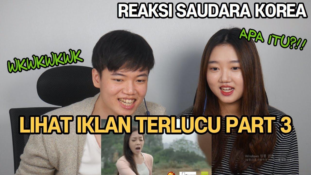 [Reaksi Saudara Korea] Melihat  Iklan Telucu Indonesia Part 3