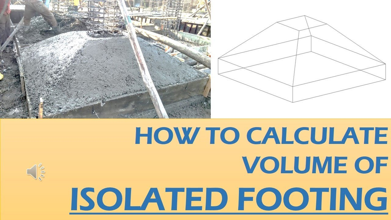 HOW TO CALCULATE VOLUME OF ISOLATED FOOTING || VOLUME OF SLOPED FOOTING ||  ISOLATED FOOTING