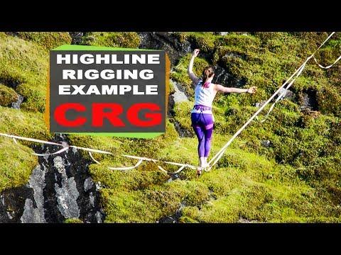 Highline Rigging Example - Consumnes River Gorge (CRG), California