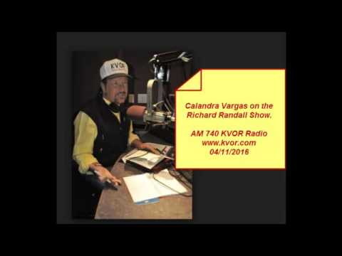 Calandra Vargas on the Richard Randall Show 04/11/2016