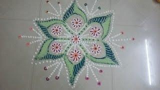 Diwali kolam/Navratri kolam or golu kolam designs/Festival kolam/AathuKolam by Preetha SaiRam.