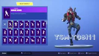 *UNLOCKED* FINAL PHASE OF the Skin LOBUNO + Dancing 107 FORTNITE Dances Which One Fits Better?