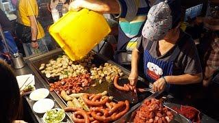 Taiwanese Street Food Tour | EATING BUGS in Taiwan at Tainan Flower Night Market