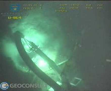 U-864: removing debris with subsea escavator