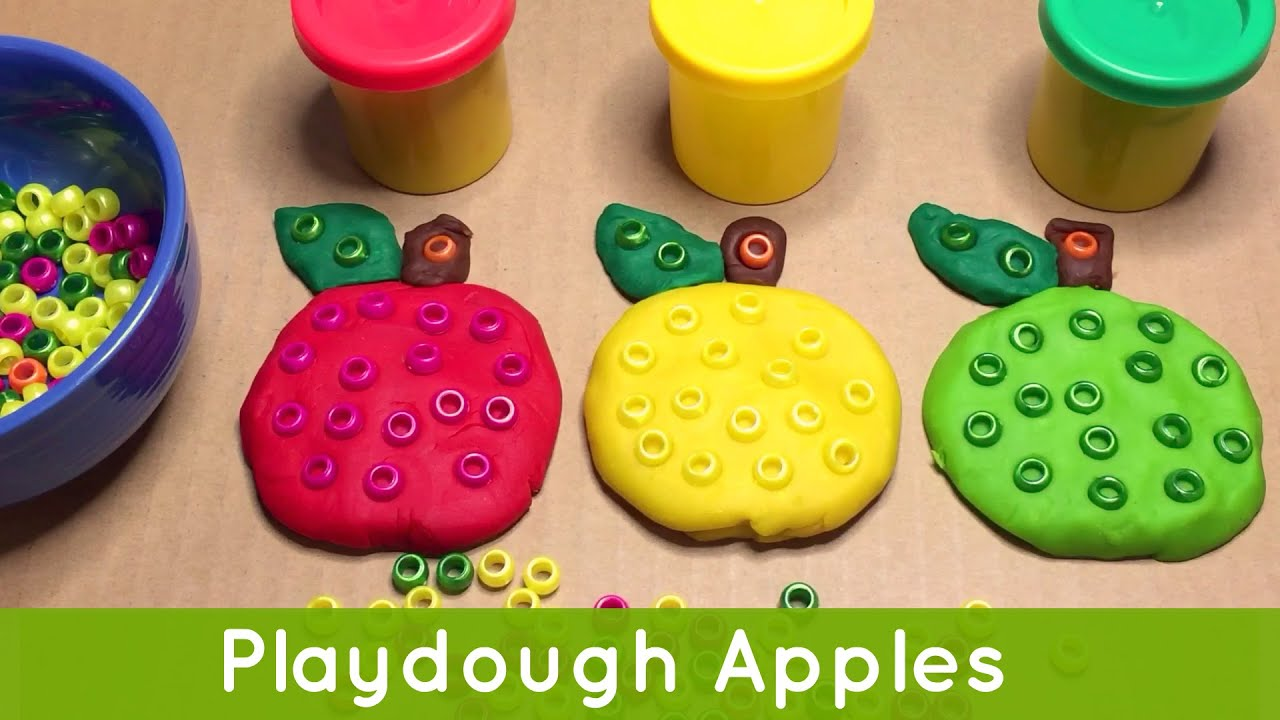 Playdough Apples Preschool and Kindergarten Fine Motor Skills ...