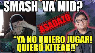MATTHEW JUEGA CONTRA SMASH! EN RANKED!|Matthew ASADO con su TEAM!