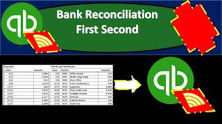 QuickBooks Online 2019-Bank Reconciliation First Second