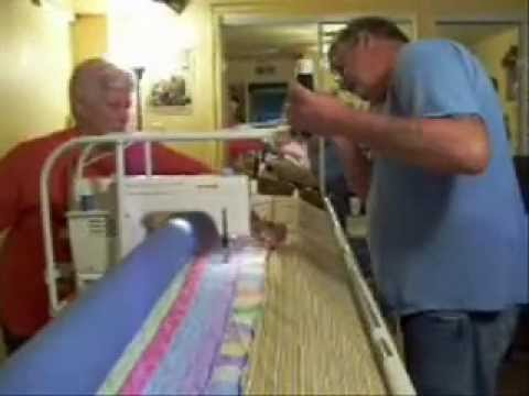 Richard's Home Built Machine Quilting Frame 40 YouTube Beauteous Quilting Frame For Domestic Sewing Machine