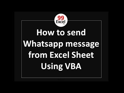 How To Send Whatsapp Message From Excel Sheet Using VBA