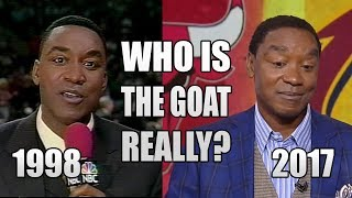Isiah Thomas ATE HIS WORDS about the GOAT!