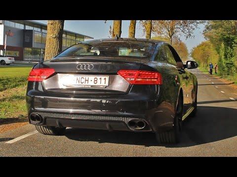 Audi RS5 Akrapovic Exhaust: REDLINE REVS + Acceleration