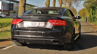 Audi RS5 Akrapovic Exhaust: REDLINE REVS + Acceleration