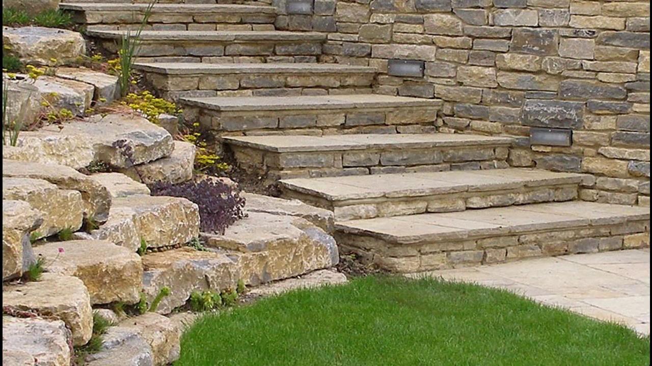 Ideas de dise o de escalones de jard n youtube - Losas de hormigon para jardines ...