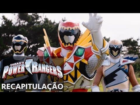 Power Rangers em Português   Dino Super Charge Recapitulação