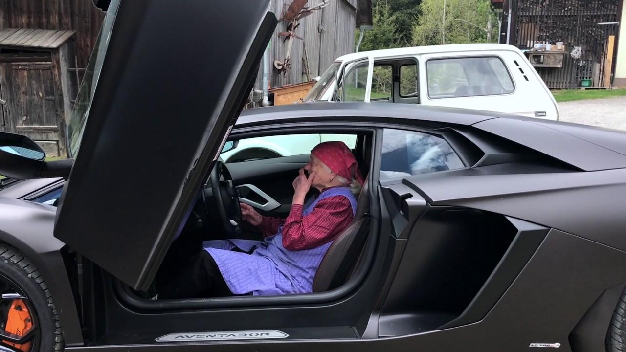 """""""Grandma Irma"""" beats the Lamborghini Aventador - YouTube"""