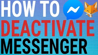 How To Temporarily Deactivate Messenger Account (2021)