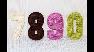 Цифры крючком. 7-9,0  DIY - Crochet