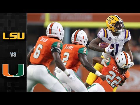 LSU vs. Miami Football Highlights (2018)