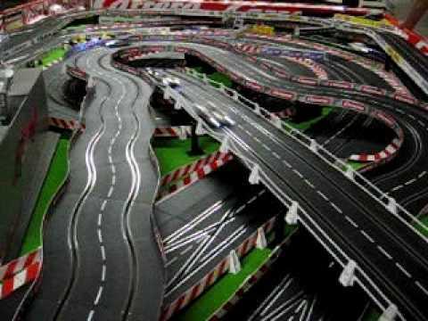 carrera digital 132 10 autos in aktion youtube