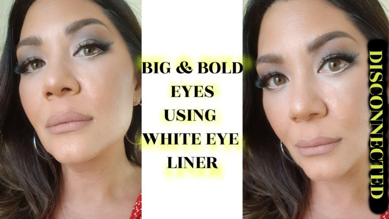 WHITE EYELINER TO MAKE YOUR EYES BIGGER - DISCONNECTED EYELINER