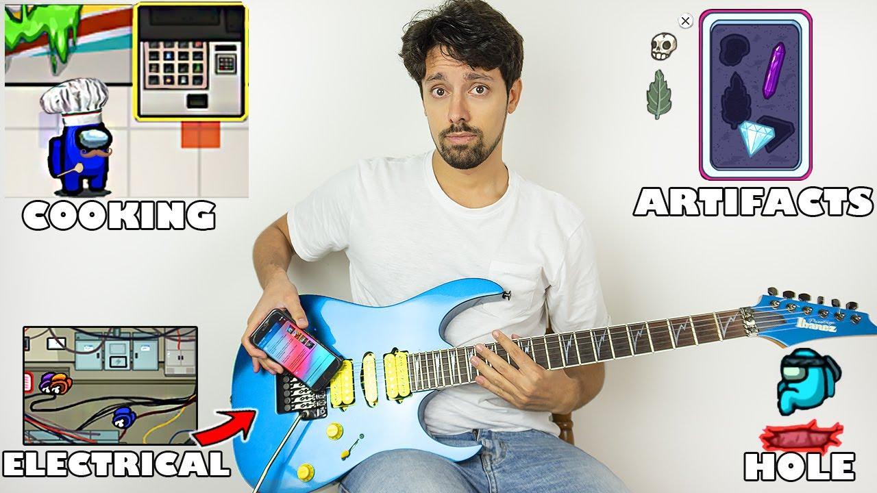 Among Us sounds on guitar 3 (more tasks)