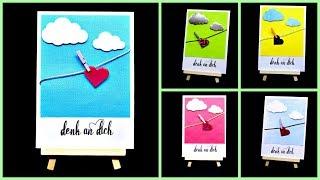12 DIY Inspiration Karten basteln mit Papier | Bastelideen DIY Geschenk | 9999 Dinge