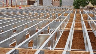 Wood-Framed Buildings Benefit From Composite TotalJoist Steel Construction - Installation Video