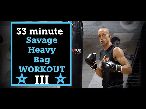 33 Minute Savage Heavy BAG WORKOUT   3