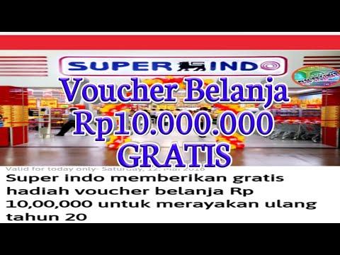 SUPER INDO !! Gratis Voucher Belanja Rp 10juta    Buruan Sebelum Kehabisan Kartu Hadiahnya