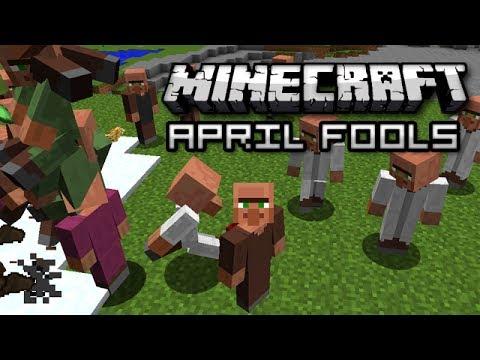 Minecraft: APRIL FOOLS VILLAGER INVASION SNAPSHOT