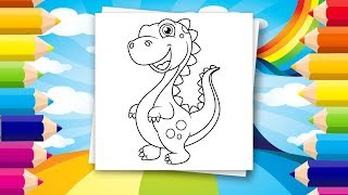 Coloring book for kids | Amazing dinosaur drawings