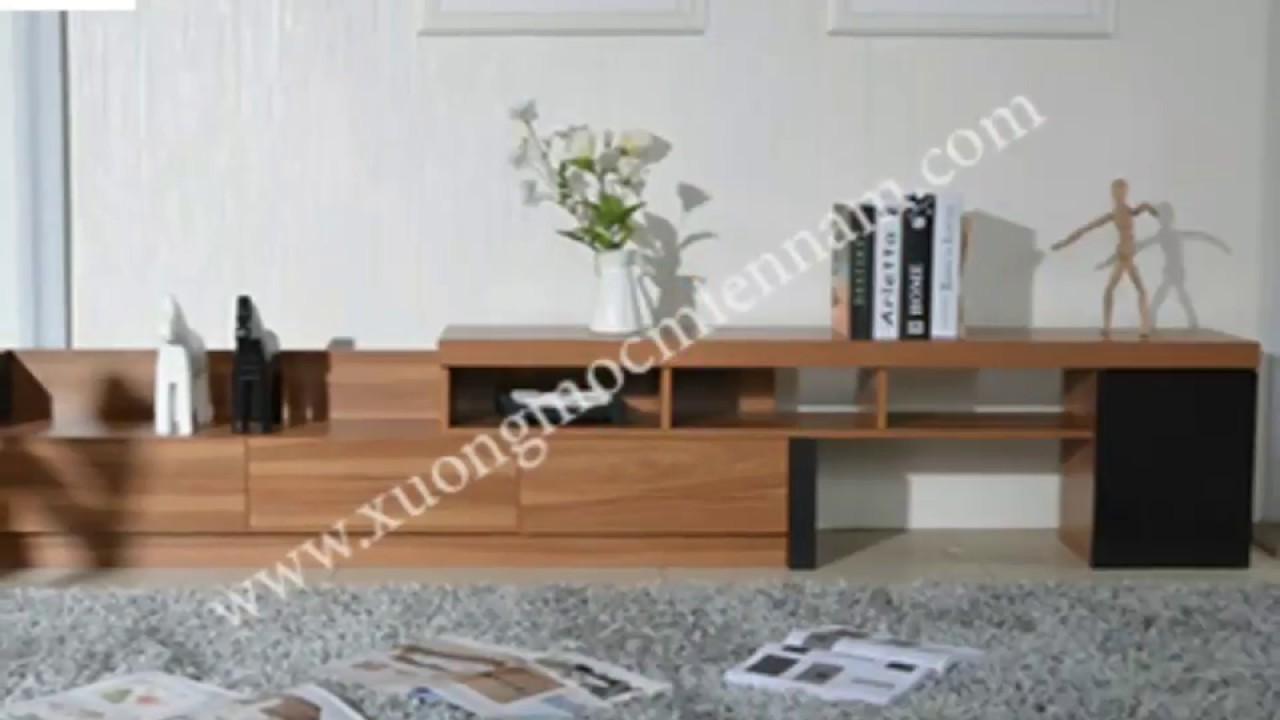25 Mẫu Kệ Tivi gỗ công nghiệp hiện đại phòng khách – Xưởng Mộc Giá rẻ tphcm