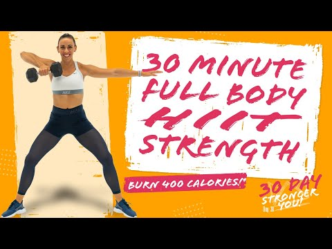 30 Minute FULL BODY HIT STRENGTH WORKOUT! 🔥Burn 400 Calories!* 🔥Sydney Cummings