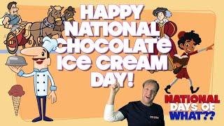 Happy National Chocolate Ice Cream Day   June 7, 2021