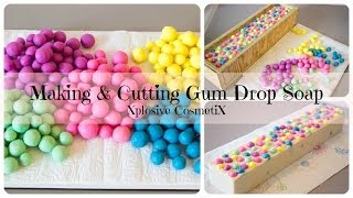 Making & Cutting Gum Drop Bubble Gum Soap
