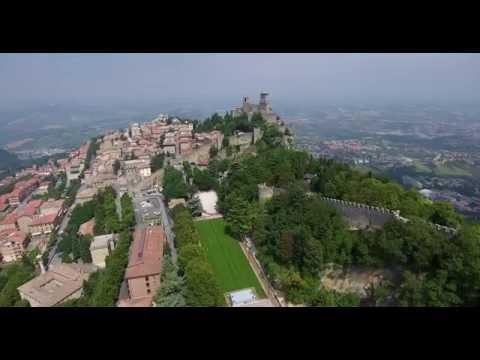San Marino, 4k drone video